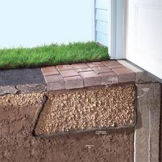 This article shows you what to do when your driveway starts to sink and pull away from your garage floor. The fix is easier than you might think, and you can do it yourself. You just need to use pavers to create a new apron where the driveway is sinking. We'll show you how. (just in case)