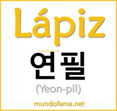 Learn korean | Lápiz: Pencil