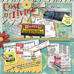Love how she is tracking the cost of living with this layout! I want to do one, just might make it paper!?