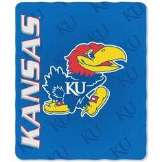 Kansas Jayhawks Blanket 50x60 Fleece Mark Design