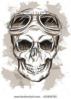 skull in glasses