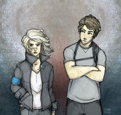 Tris and Tobias by leabharlann