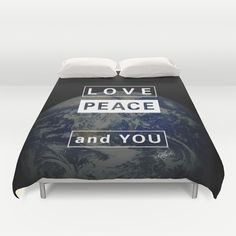 and YOU_earth Duvet Cover by SEVENTRAPS | Society6