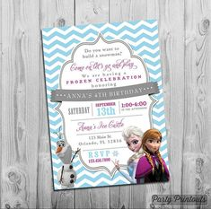 Frozen Birthday Invitation Frozen Invitation Printable