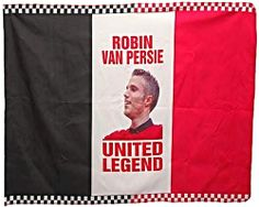 RVP Robin Van Persie Legend United Player Flag 2