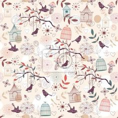 Papier peint Motif oiseaux