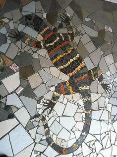 Woodcraft patio mosaic by Wendy Tanner, via Flickr