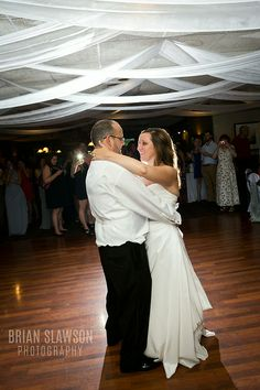Photo by Brian Slawson Photography. Western Lakes Golf Club. Pewaukee, WI. #first dance #bride #groom #wedding reception