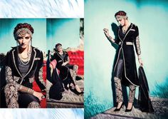 Pakistani Wedding Party Indian Bollywood Designer Anarkali Black Salwar Kameez…