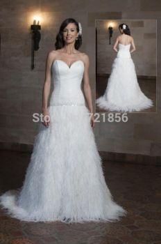 3d4e2dc12f8 2015 Wedding Dresses Vestido de Noiva White Long Satin With Tassel A-Line  Chapel Train