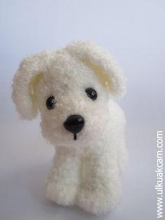 Amigurumi White Doggie by Denizmum on Etsy