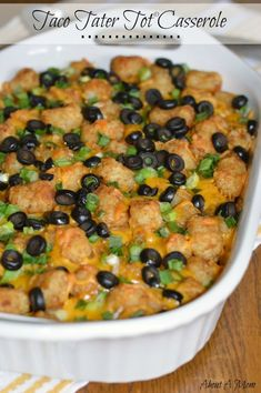 "Taco Tater Tots® Potatoes Casserole ""Weeknight Easy"""