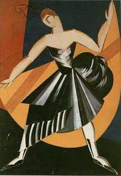 Aleksandra Ekster, costume design for Spanish dance, 1920