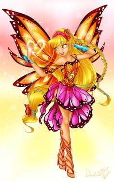 Winx Club - Butterfly Fairy Stella by DarleenEnchanted on DeviantArt