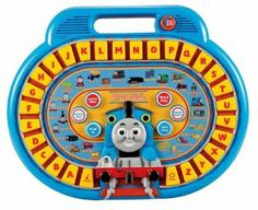 VTech Thomas & Friends Letter Engine by V Tech. $49.99. Play fun quiz game or create music. Thomas and Friends Alphabet Board helps tots learn letters and words. Features 26 large letter buttons, easy for little fingers to press. Includes board and user manual. Interactive letter board recommended for ages 3 and older. Amazon.com                  .caption { font-family: Verdana, Helvetica neue, Arial, serif; font-size: 10px; font-weight: bold; font-style: italic; } ul.inde...
