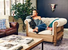 that chair though....A Lust for Life: Inside Olivia Lopez's Fashionable Loft via @domainehome