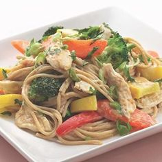 Peanut Noodles with Shredded Chicken