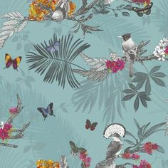 Arthouse Imagine Mystical Forest Teal Wallpaper 664801 - Glitter Tropical Birds in Home, Furniture & DIY, DIY Materials, Wallpaper & Accessories Teal Wallpaper, Forest Wallpaper, Luxury Wallpaper, Glitter Wallpaper, Paper Wallpaper, Wallpaper Jungle, Tropical Wallpaper, Butterfly Wallpaper, Wallpaper Warehouse