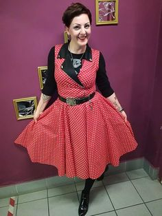 Beatrice rockabilly polkadot dress By TiCCi rockabilly Clothing Punk Rock Outfits, Rockabilly Outfits, Pin Up Outfits, Rockabilly Fashion, Rockabilly Clothing, Rockabilly Girls, Rockabilly Style, Emo Outfits, Goth Girls