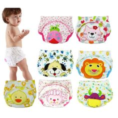 2016 Baby Nappies Washable Cloth Diaper Newborn Training Pants Children Underpant Girls Panties diaper bag