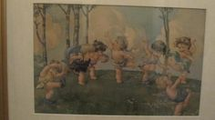 Edward Gross Co NY Vintage Babies in Garden/Dancing by Folkaltered, $75.00