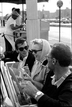 Milton Green, Marilyn Monroe & Arthur Miller