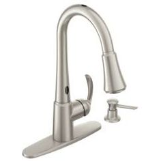 spot resist stainless onehandle high arc pulldown kitchen faucet