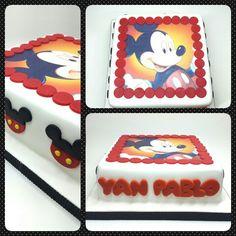 Cake standard • Mickey Mouse #pritycakes #fondantcakes #cakes #Mickey #disney