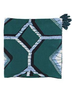 By Malene Birger Scrapie Scarf - Silk - Green - CureUK.com