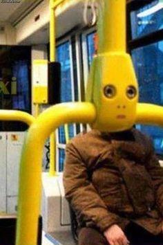 Robots on the train.
