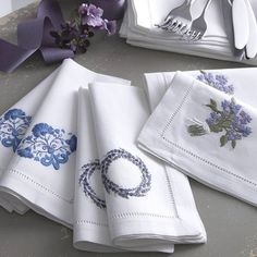 Buy gorgeous, pure cotton bed linen, bath linen,sublime perfumes and home fragrances. Monogrammed Napkins, Personalized Napkins, Cotton Napkins, Linen Napkins, Cloth Napkins, Embroidery Monogram, Embroidery Applique, Machine Embroidery, Linens And Lace