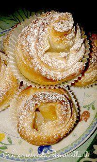 Girelle di mele e crema pasticcera