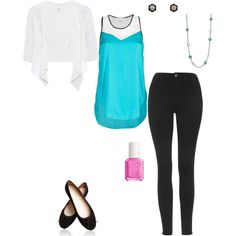 Turquoise Cuteness by ashleyrombs on Polyvore featuring 3.1 Phillip Lim, Crea Concept, Topshop, John Hardy, Vera Bradley and Essie