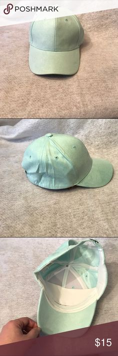 Faux Suede Baseball Hat NWOT!   Faux suede adjustable baseball hat. Color: light green. One size fits most. Bundle discount available. No trades. Accessories Hats