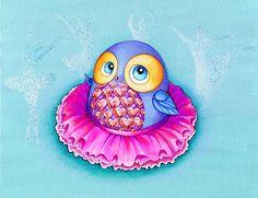 """""""Ballerina Owl"""" by Annya Kai   Redbubble"""