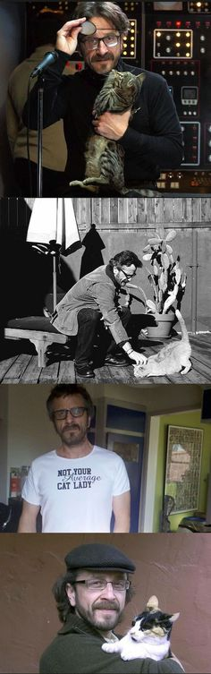 """Comedian Marc Maron records WTF Podcast from the garage of his home in Los Angeles, a domicile he has dubbed """"The Cat Ranch"""" for the abundance of felines that dwell there — both his own and the strays that he feeds and cares for."""
