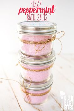 Fizzy Peppermint Bath Salts from Our Best Bites