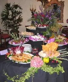 reception whole food table