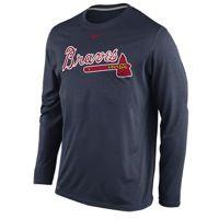 Nike MLB Dri-FIT Wordmark L/S T-Shirt - Men's at Eastbay