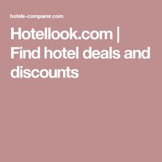 Hotellook.com | Find hotel deals and discounts