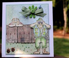 Art Impressions Stamps: Cute!  Guido Front & Back (Sku#T1718)  Hollis - Front & Back (Sku#YY1901)