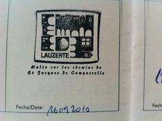 Tampon de l'office de tourisme de Lauzerte  La Via Podiensis