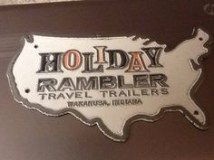 Vintage Holiday Rambler Owners Map