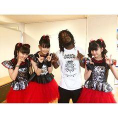 badassthomaspridgen Had to get a flick with #babymetal #osaka #japan #summersonic