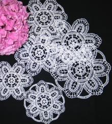 FSL Crochet Lily Doily Set