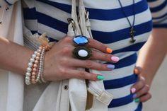 Multicolored Matte Nails