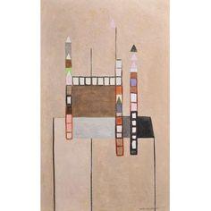 IONE SALDANHA (1921 - 2001) Sem título, déc. 50 óleo s/ tela 81 x 50 cm ass. inf. direito Reproduzido no catálogo da Bolsa de Arte Procedência: Atelier da artista Coleção particular #ionesaldanha #art #decor #auction #iarremate