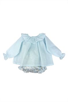 Paloma de la O plumeti blouse with floral print bloomer #fashionkids #babyfashion