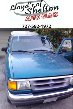1997 Ford Ranger with a new windshield.  https://lloydsofshelton.com/blog/auto-glass-repair-clearwater-fl/ | #WindshieldReplacement   #Clearwater