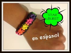 Pulsera de Gomita con el telar de Rainbow Loom. Instrucctiones en español.